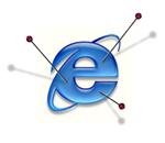 Internet explorer logo con spilli