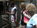 Mom, Lesa, and Wycliffe in Kibera