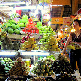 Fruit shop by Leong Jeam Wong - City,  Street & Park  Markets & Shops ( fruit, market, variety )