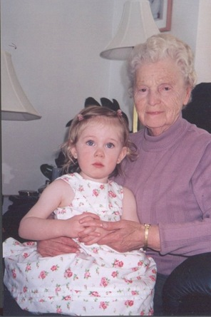 miranda and great grandma mother's day 2002