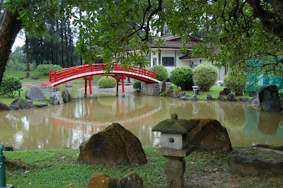 Red arched bridge