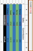 Screenshot of Simple Spreadsheet
