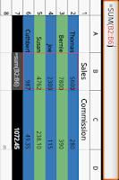 Screenshot of Simple Spreadsheet