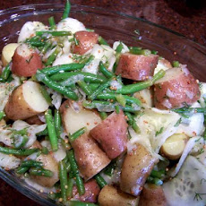 Haricots Verts, Red Potato and Cucumber Salad