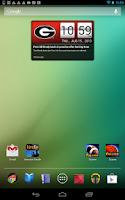 Screenshot of Georgia Bulldogs Live Clock