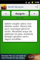 Screenshot of Kandil Mesajları