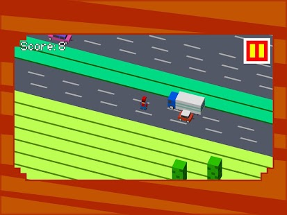 Retro Road Crossing - screenshot