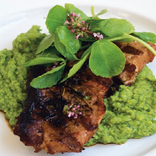 Lamb Steaks with Peas and Mint