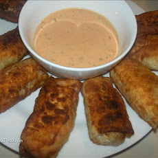 Reuben Egg Roll Wraps With Dipping Sauce