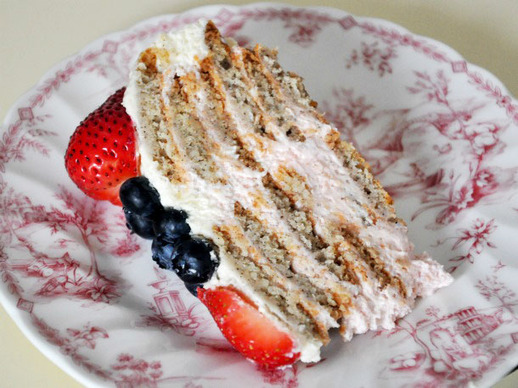 Red, White, and Blueberry Icebox Cake