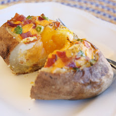Egg-Stuffed Baked Potatoes