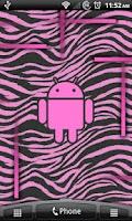 Screenshot of Pink Zebra Live Wallpaper