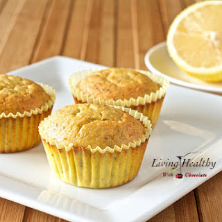 Paleo Lemon Chia Seed Muffins • low carb, nut-free, dairy-free, grain-free, gluten-free, refined sugar-free