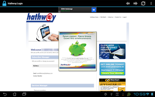 Screenshot of Hathway Login