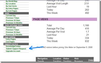 eliminar contador de visitas site meter