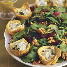 Champagne Salad With Pear-Goat Cheese Tarts
