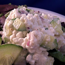 Summertime Cucumber and Cottage Cheese Salad