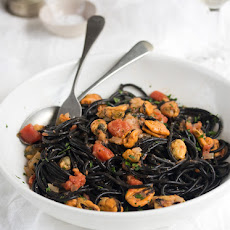 Mussels And Squid Ink Spaghetti