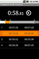Screenshot of Stopwatch Droid