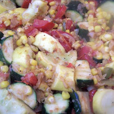 Zucchini,  Corn,  and Tomato  Combo