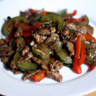 Helen Chen's Pork and Cucumber Stir Fry
