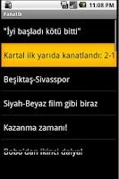 Screenshot of Andro Beşiktaş Haber