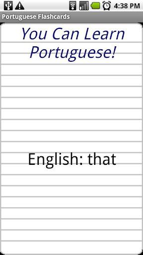 English Portuguese Flashcards