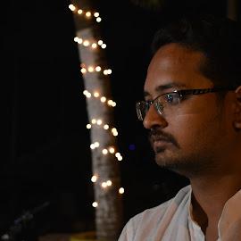 Diwali Special with Bokeh effect by Solomon Sarkar - People Portraits of Men ( diwali, festival, light, bokeh, portrait )