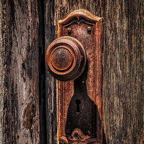 Bristow Door Knob by Ron Meyers - Artistic Objects Other Objects ( door knob, door, rust, rustic )