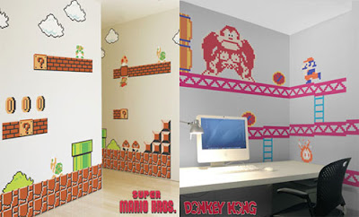[Game]用馬力歐 & 大金剛壁貼讓你的房間更有宅氣XD!