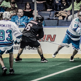 I´ll Hit you! by Enrique Santana Carballo - Sports & Fitness Lacrosse ( sports, game, vancouver, lacrosse, rochester )