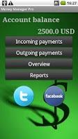 Screenshot of MoneyManager