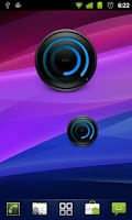 Screenshot of MIUI Spiral BLUE Analog Clock