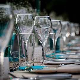 Dinner detail by Werner Booysen - Wedding Details ( dinner, wedding photography, wedding day, wedding, zambia, wine glass, glass, wedding details, werner booysen )