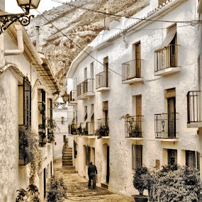 Frigiliana, in the mountains of Andulucia by Alrah Fraser - Landscapes Travel ( holiday, mountains, alectrum, spanish, andulucia, village, pwcdetails, morning, spain, frigiliana )