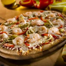 Shrimp Artichoke Heart Pizza