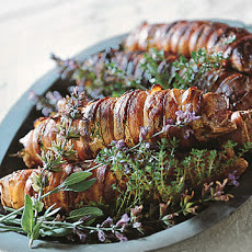 Roasted Pork Tenderloin with Bacon and Herbs