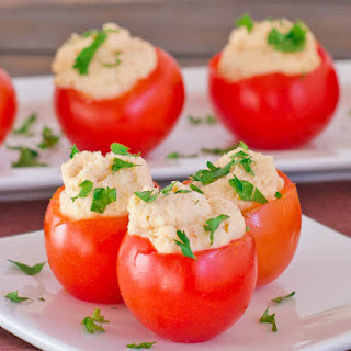 Shrimp and Crab Dip Stuffed Tomatoes