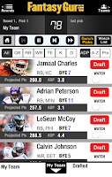 Screenshot of Draft Guru by FantasyGuru.com