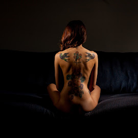 back painting by Nathan Isaksen - People Body Art/Tattoos ( nude, tattoos, romance )