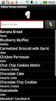 Screenshot of Digital Recipe Sidekick.