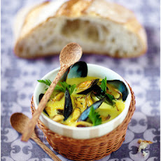 Coconut Milk Mussel Soup