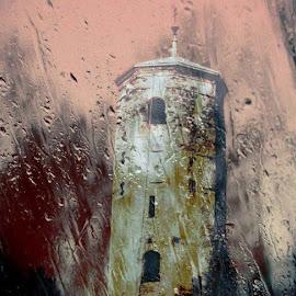 Listen the Rain by Nat Bolfan-Stosic - Buildings & Architecture Places of Worship ( old, window, church, listen, rain )