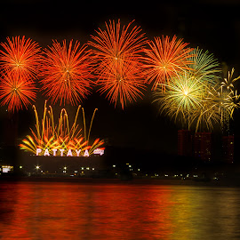 New year 2015 by Ariya Namwong - News & Events World Events ( new year, thailand, fireworks, penny, party, pattaya )