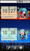 Screenshot of Miku Chibi Clock ( Vocaloid )