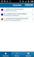 Screenshot of Muni Tracker