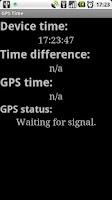 Screenshot of GPS Time