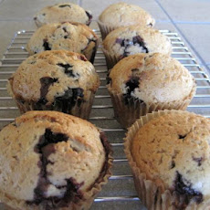 Vegan Whole-Grain Blueberry Muffins