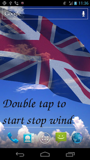 3D UK Flag Live Wallpaper +