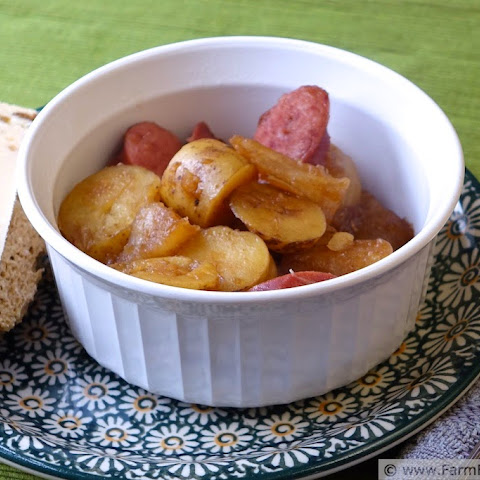 Braised Turnips with Potatoes and Sausage